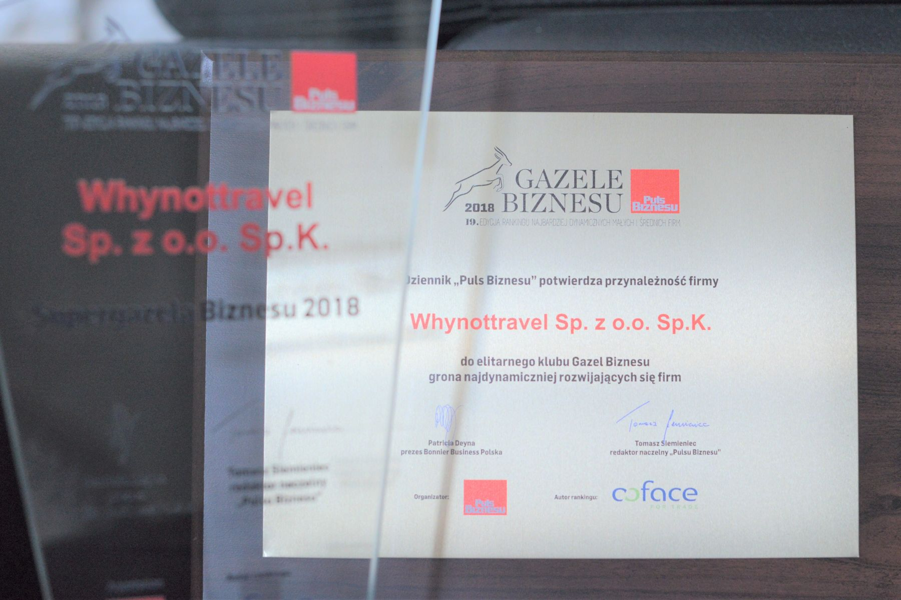 Why Not TRAVEL w gronie laureatów rankingu Gazele Biznesu 2018